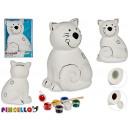 hurtownia Upominki & Artykuly papiernicze: skarbonka do malowania dużego kota