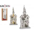 Großhandel Spielwaren: riesiges weißes Holzhaus mit Licht und Pur
