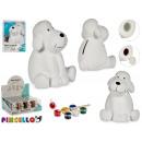 grossiste Cadeaux et papeterie: tirelire chien coloration en céramique
