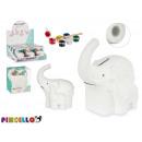 hurtownia Upominki & Artykuly papiernicze: kolorowanka ceramiczna słonia skarbonka