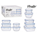 set of 5 rectangular glass lunch boxes and