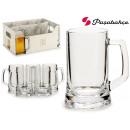set of 6 beer mugs pub 395cc