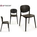 grossiste Maison et habitat:chaise en plastique noir
