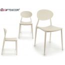 plastic chair white shape
