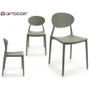 wholesale furniture:plastic chair gray shape