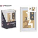 Holzwandbilderrahmen 21x30cm weiß