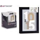 portafoto da parete in legno 13x18cm nero