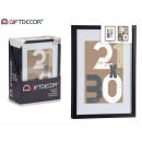 cornice per foto parete in legno 30x40cm nero