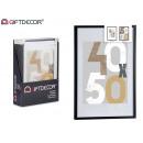 Holzwandbilderrahmen 50x70cm schwarz