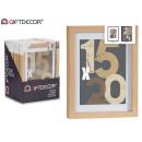 cornice per foto da parete in legno naturale 18x24