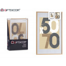 cornice per foto da parete in legno naturale 60x90