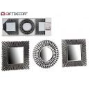 groothandel Home & Living: set van 3 spiegels geassorteerd zwart / zilver
