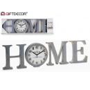 groothandel Home & Living: set van thuishorloge grijs / goud