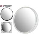 ingrosso Home & Living: specchio tondo 2 colori mix bianco / nero