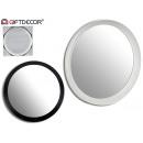 runde Spiegel 2 Farben mischen große weiß / schwar