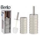 graue Bambus-Toilettenbürste