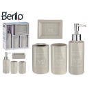 wholesale Drugstore & Beauty: gray natural ceramic 4-piece bathroom set