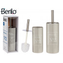 wholesale Cremes: gray natural ceramic toilet brush holder