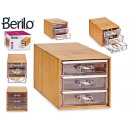 Acryl Bambus Organizer Box Quad 3