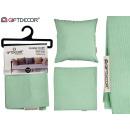 zielona poduszka na zamek 45x45