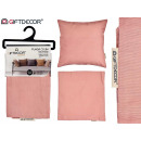 rosa Reißverschlusskissen 45x45