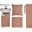 60x60 brauner Reißverschluss-Kissenbezug
