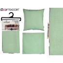 grün 60x60 Reißverschluss Kissenhülle