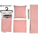 60x60 rosa Reißverschluss-Kissenbezug