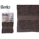 Handtuch glatt 30x50 grau