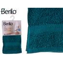 Handtuch glatt 30x50 Petrolblau Farbe