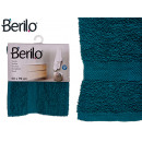 Handtuch glatt 50x90 Petrolblau Farbe