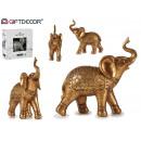 großer goldener Harzelefant