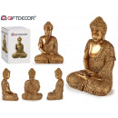 Buddha seduto resina grande dorato