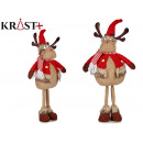 red wool fabric reindeer with legs 63cm