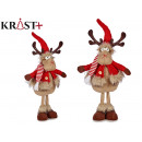 red wool fabric reindeer with legs 51cm