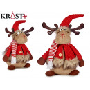 red fabric reindeer wool sitting 43cm