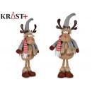gray wool fabric reindeer with legs 51cm
