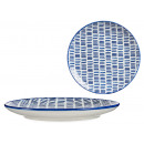 assiette dessin au trait bleu clair 24cm