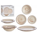 18-piece tableware cream-colored stoneware