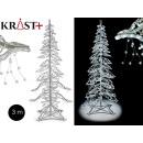 arbol navidad aluminio con luces 3m
