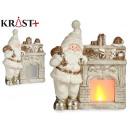 ceramic fireplace light santa claus
