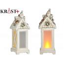 ceramic lantern light with santa claus