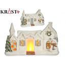 nevada light ceramic house with doll