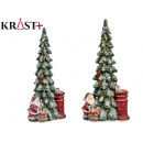 snowy ceramic tree led with santa claus