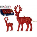 wholesale Other: figure reindeer glitter 13cm red