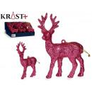 wholesale Other: figure reindeer glitter 13cm pink