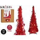 Christmas tree 105cm matte red tinsel