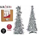 Karácsonyfa 105cm mat ezüst talmi