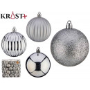 7cm silver embossed pvc ball set of 50