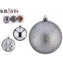 pvc ball 8cm silver set of 3